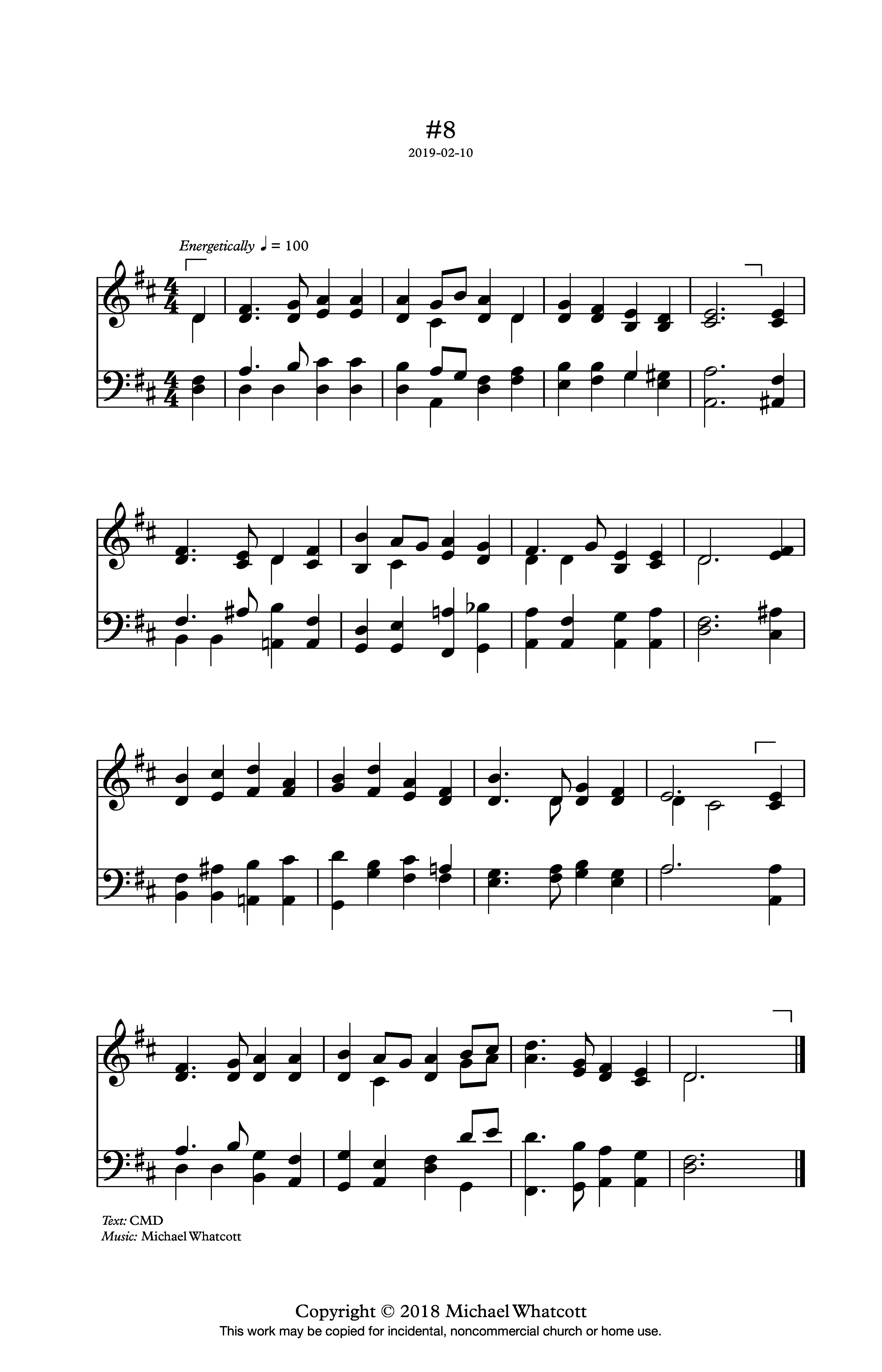 Michael Whatcott - Hymn #8